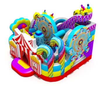 New design inflatable obstacle park inflatable bouncer obstacle for kids