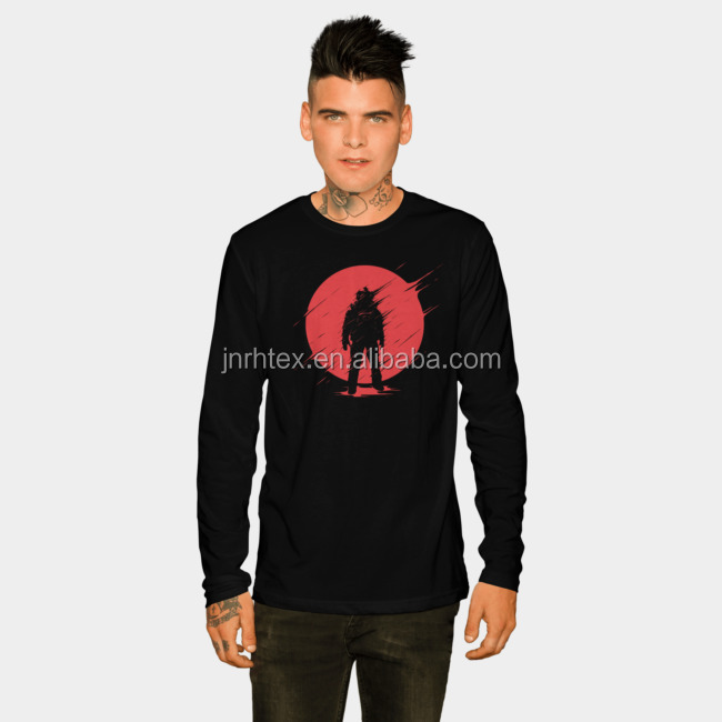 Custom Printing Long Sleeve T Shirt Men