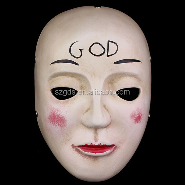 halloween movie theme the purge god resin mask the purge anarchy god resin cosplay mask - Purge Anarchy Masks For Halloween