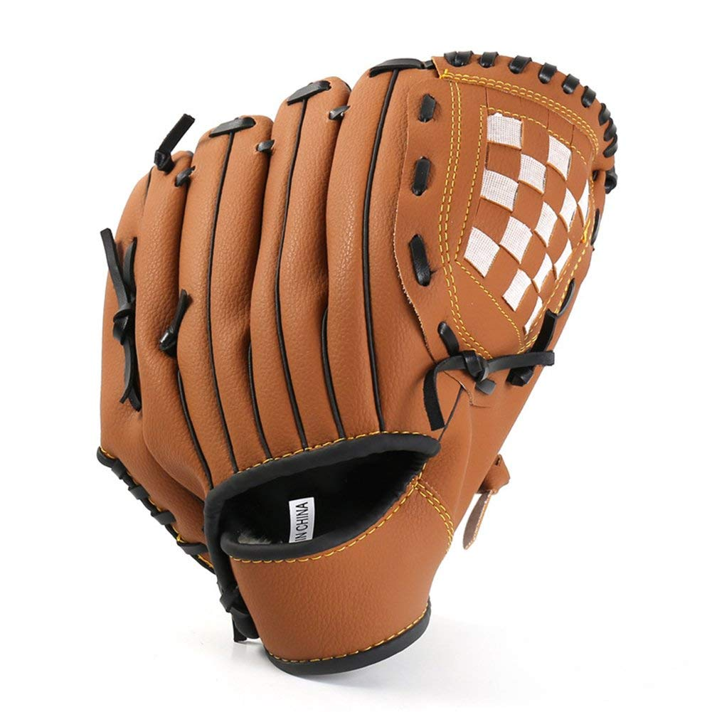 Baseball Glove,Sports Batting Gloves with Baseball PU Leather Left Hand Catchers Mitt for Kids Youth Adults