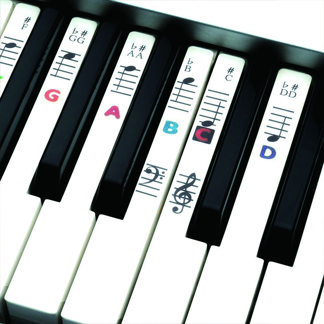Custom printing abrasion resistant anti-static piano alphabet stickers piano keyboard stickers
