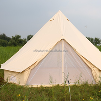 Luxury Outdoor Canvas Tent Zip Up Tent Yurt Tents / Bell Tents for Camping