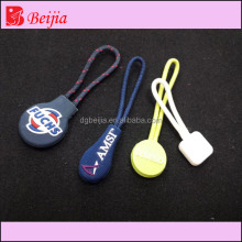 Custom silicone rubber bag's zipper puller,soft pvc zipper pull