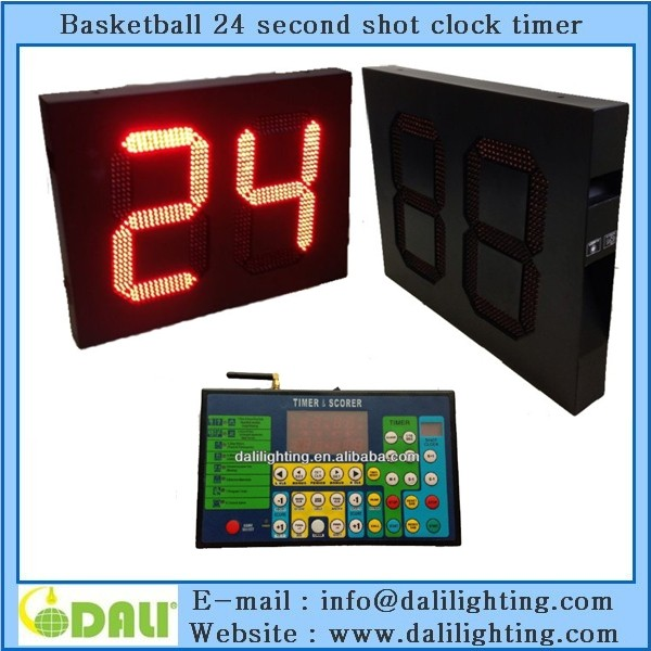 Timer & 24 sec shot clock for basketball