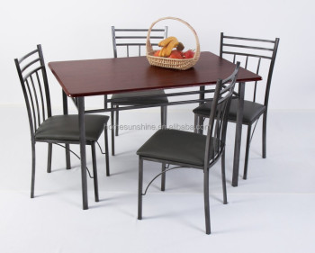 Charmant Stainless Steel Dining Table Set