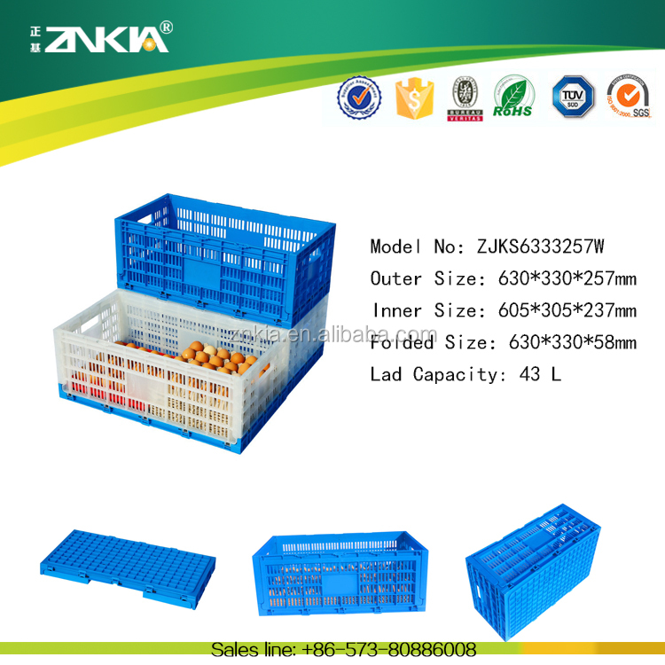 Plastic material crate for egg use