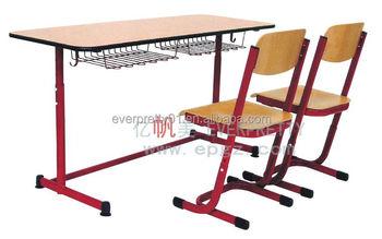 Dominican Republic Chain School Chair Desk Set Chain School Furniture  Supplier
