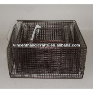 Vintage metal wire home storage baskets wholesale