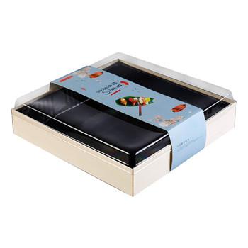 Simple folding good wood food, cake, sushi packing box