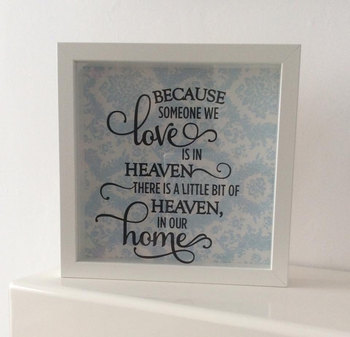 Because Someone We Love Is In Heaven Feather Glitter Box Frame Buy