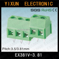 Euro terminal block 3.81mm pitch 2pin connector KF128L-3.81EX381V