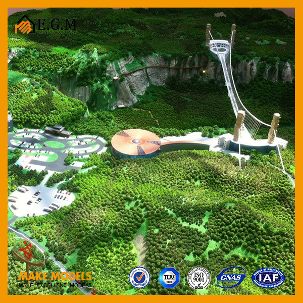 The Grand Canyon of Zhangjiajie model,The scenic area planning model