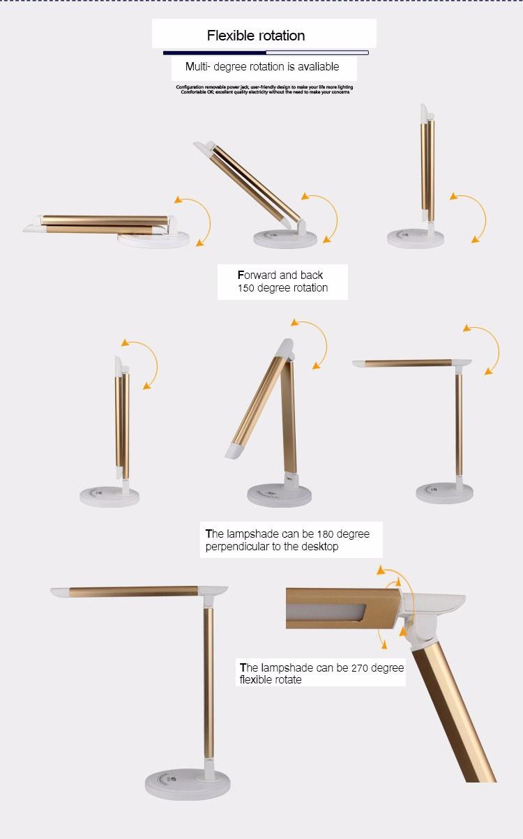 Stile Europeo Moderno Metallo Pieghevole Led Lampada Da Tavolo Da