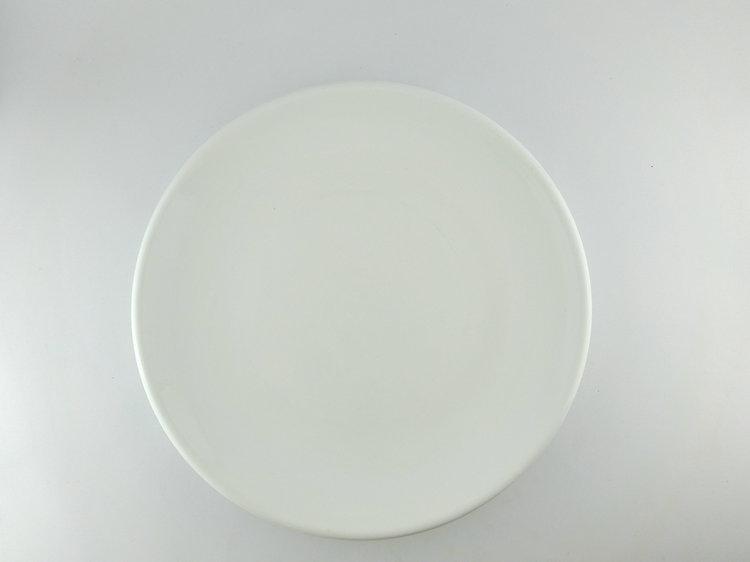 14 inch big size flat white round cake plate for cake serving