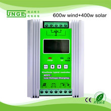mppt wind solar hybrid charge controller 1kw 24v 600w wind and 400w solar