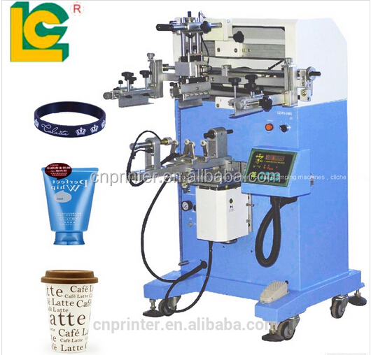 Cylinder Semi Auto Silk Screen Printing Machine For Plastic Bottles
