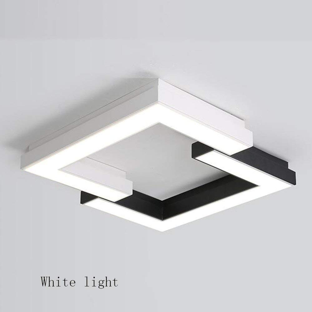 XQY Ceiling Light-Square Black and White Combination Led Iron Lamp Body Acrylic Shade Creative Geometry Simple Modern Room Lamps - Energy Saving