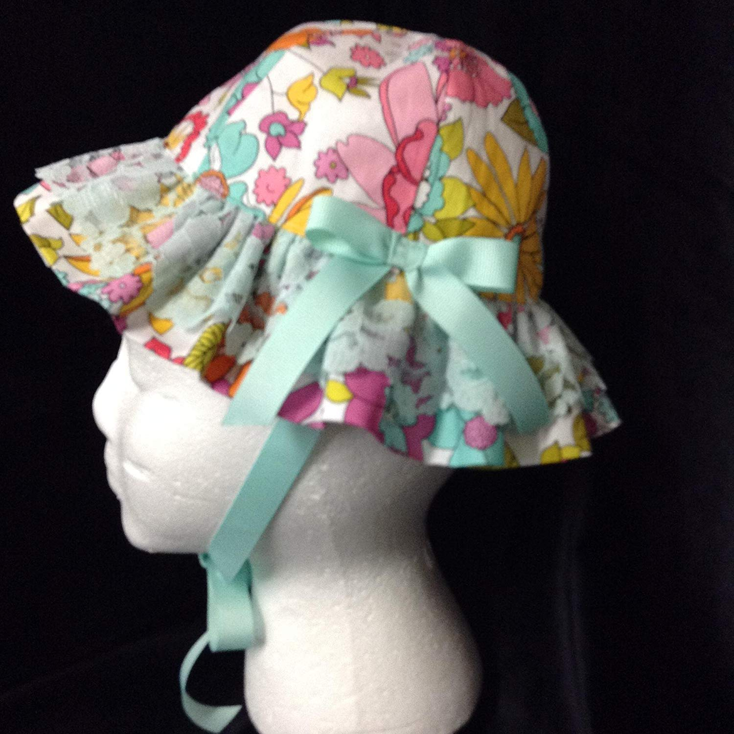 d7cf0eaa455f5 Get Quotations · Floral Toddler Baby Girl SUNHAT 6-12 Months