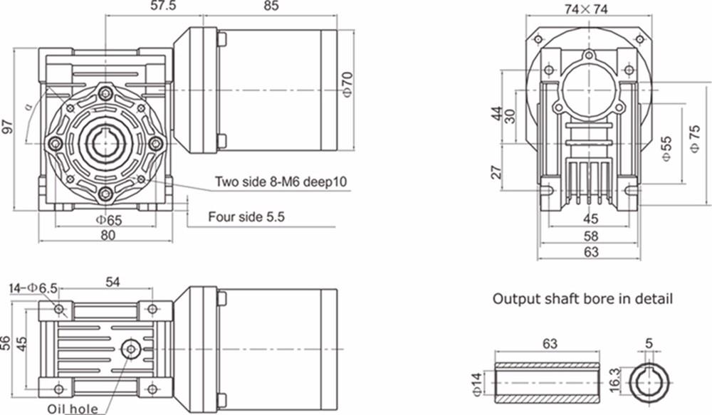 220 v 70mm motor u00e9ducteur  u00c0 vis sans fin pour portail