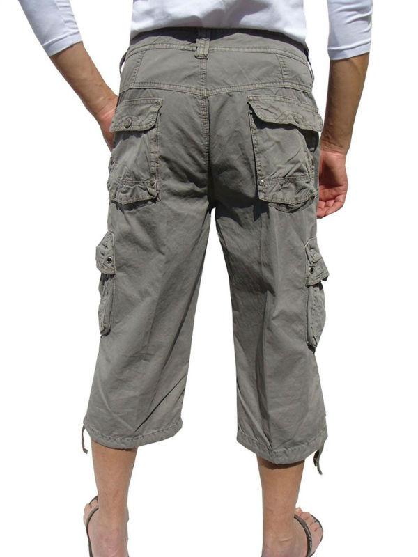 Oem Wholesale Men's Drawstrings On Leg Military-style Solid Cargo ...