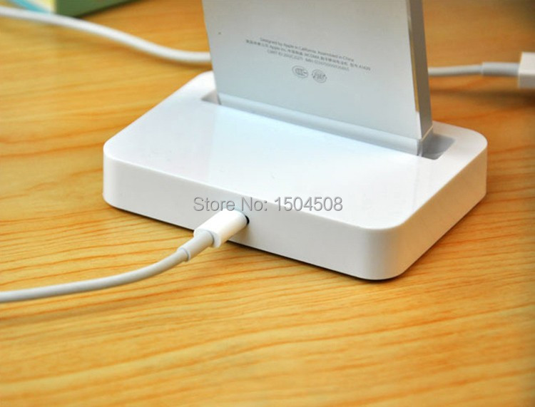 Portable Dock Charger ( Base Dock Charger )Dock station Charger cable adapter Base Holder docking For iPhone 6 6 Plus  5s