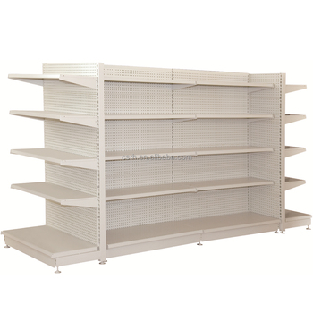 double-sided supermarket shelving