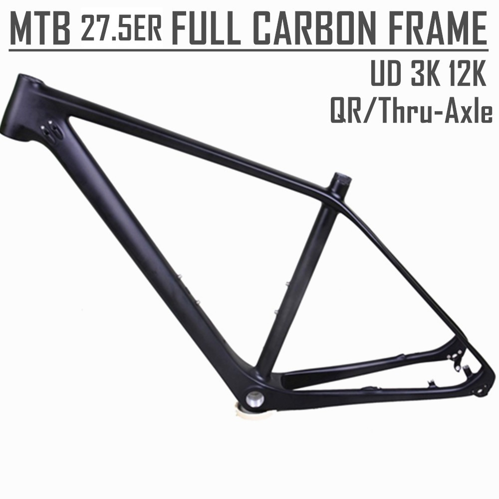 "Winowsports Hardtail 27 5 Mountain Bike XC MTB Carbon Frame 27.5ER in 16""/17.5""/19"" /21"""