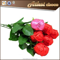 Valentine bulk chocolate roses milk chocolate
