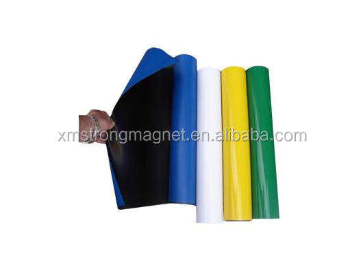 Flexible rubber magnet With Color PVC Coated paper