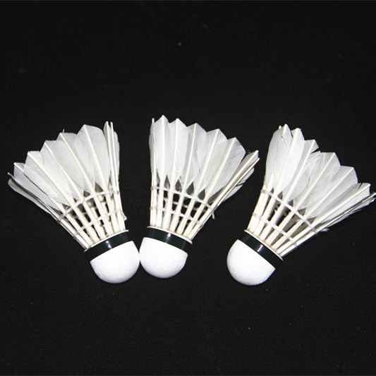 3pcs Game Sport Training White Duck Feather Shuttlecocks Badminton Ball LY Badminton