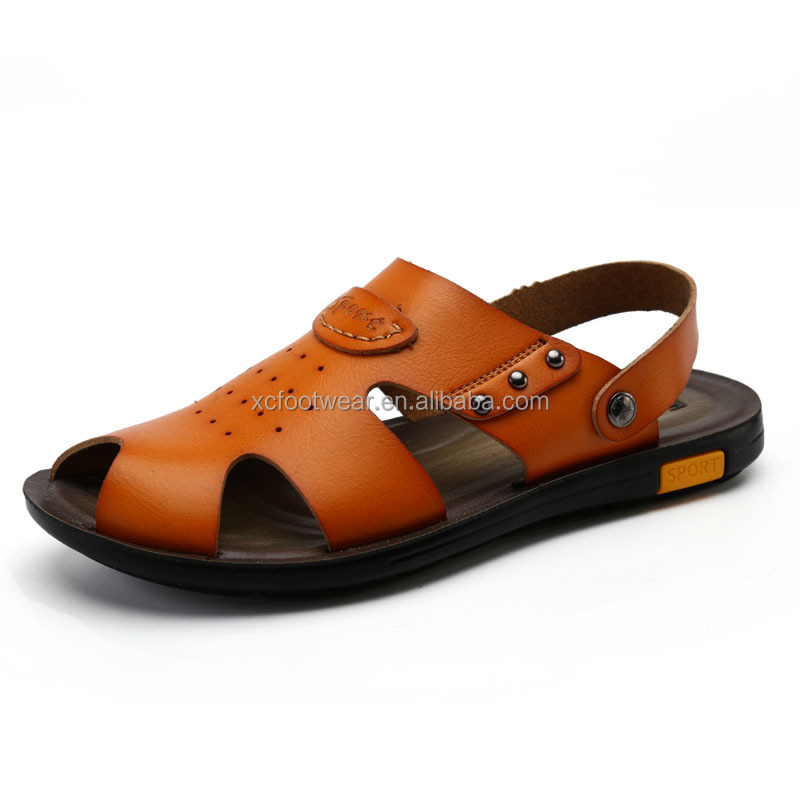 Popular design and mens fashion leather <strong>sandal</strong>