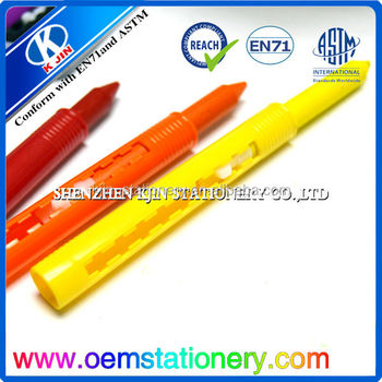 Coloring Book And Crayons In Bulk : Pen shape crayon with astm d4236 and en 71 walmart audit promotion