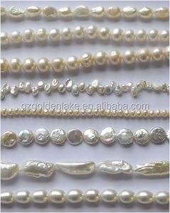 2017 hot sale round freshwater pearls white loose pearls