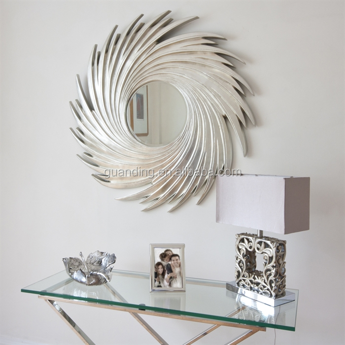 wooden wall mirror, hang wall mirror with wooden frame