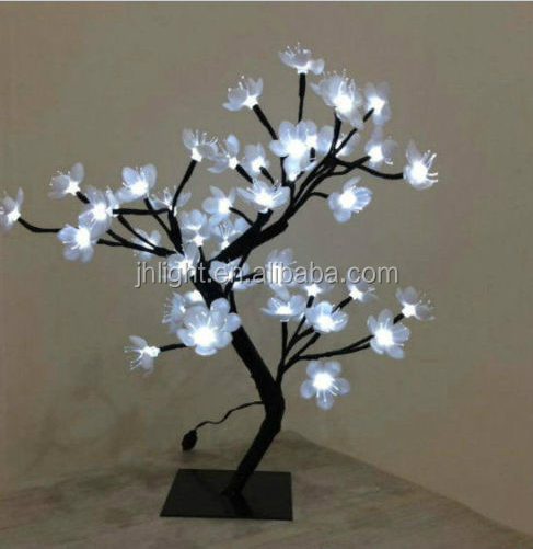 45CM Flower petal tree light with 48 leds decoration for holiday/Petal tree light led white decoration