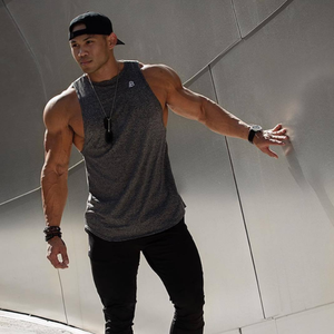 Wholesale customize 2019New style Men Gym Muscle Sleeveless Shirt Male Vest Tank Tops Bodybuilding Clothing With Logo