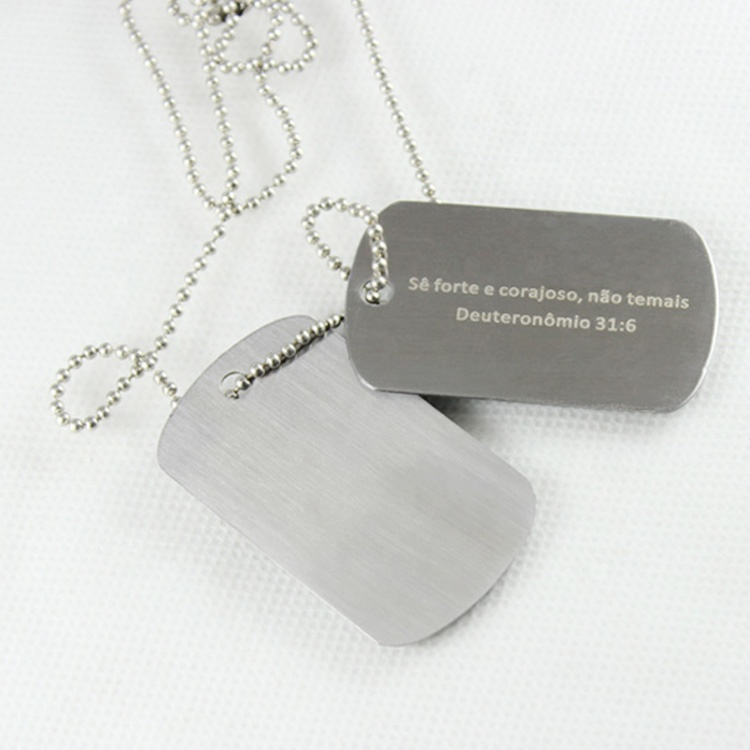 Wholesale Fashion Professional Stamping Double Dog Tag Blanks