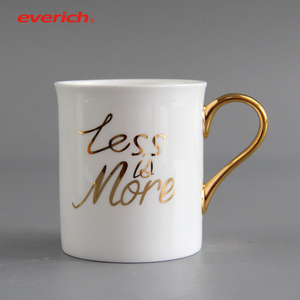Promotional custom logo ceramic coffee mug ceramic cups with spoon