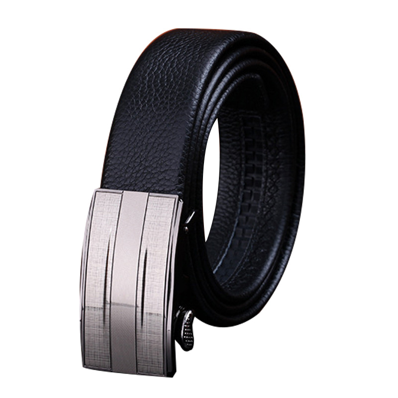 2015 Hot New Mens Genuine Leather Belt with Fashion Automatic Metal Buckle Cow Leather Luxury Man's Belt for Apparel Accessories