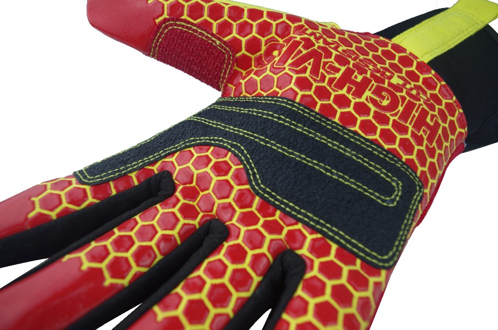 Seibertron High-vis HRC5 Silicone print Rigger Gloves oil field work cut 5 resistant glove