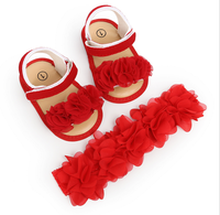 flower baby christmas party shoes fancy baby girls red flower christmas shoes