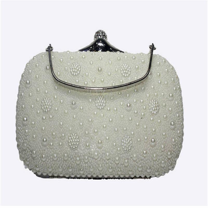 d38288eb374 Get Quotations · NEW Beaded Women Vintage Evening Bags Imitation Shell Hard  Women Handbag Chains Shoulder Bags