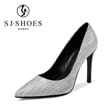 D258 new style fashion stiletto high heels new style graceful american ladies shoes