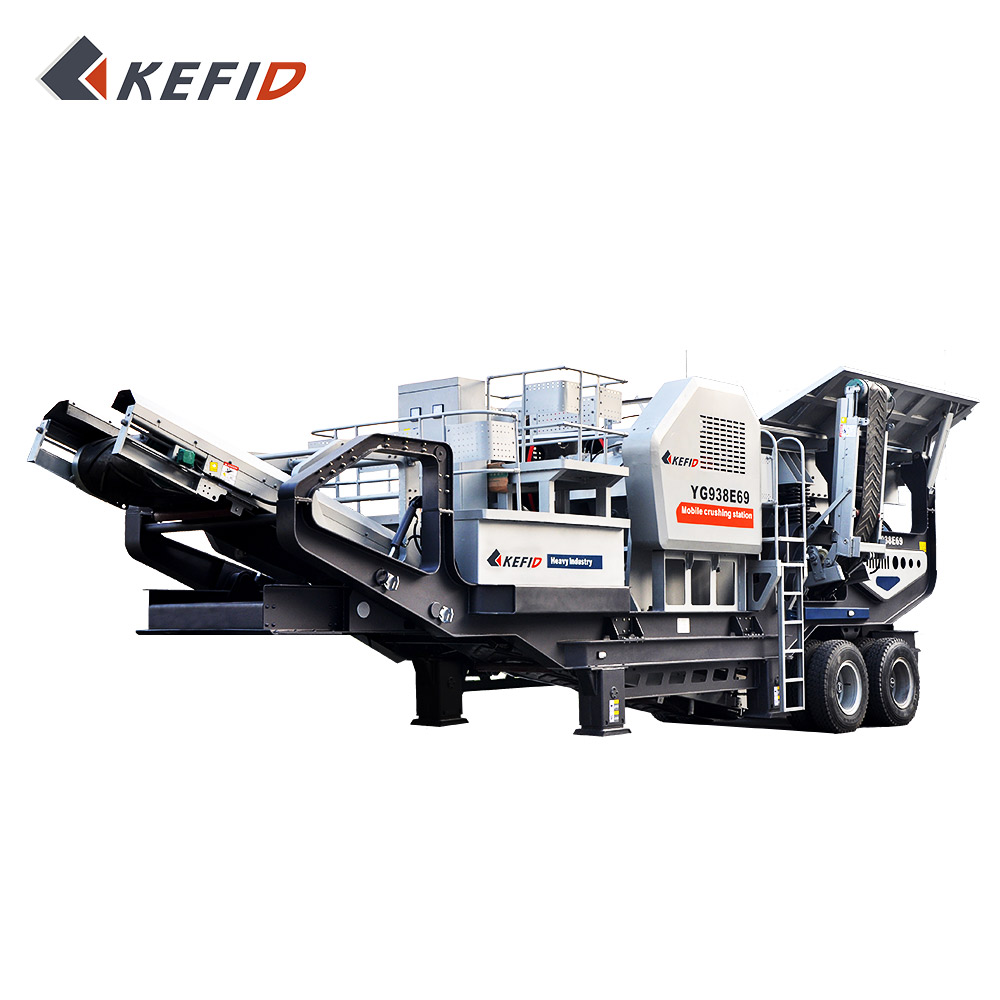Brand new rubber-tyred mobile crushing plant with large capacity and good quality