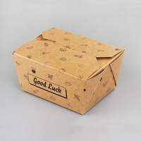 custom logo kraft paper compartment food mobile container eco friendly