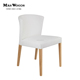 white leather dining chair