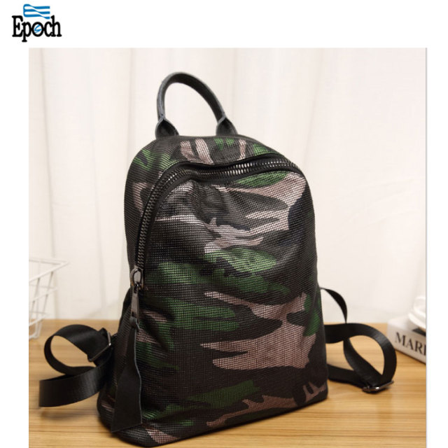 Wholesale nylon camouflage women youth fashion backpack,design your own backpack