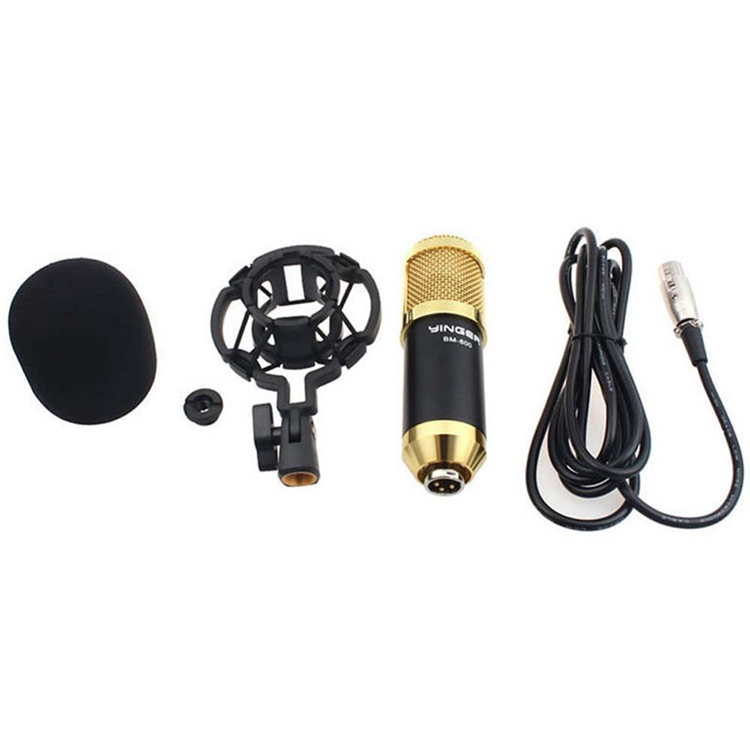 BM800 cheap price high quality jazz Wired Condenser Microphone Studio Mic With Stand Holder Clip For PC Laptop Microphones