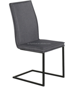 2017 Latest Design Opposite Sides-to Hold Dining Chair With Arch Black Painting Legs
