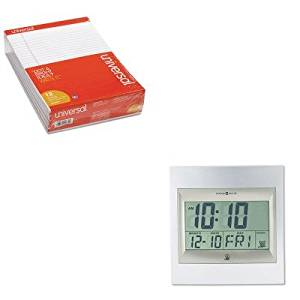 KITMIL625236UNV20630 - Value Kit - Howard Miller TechTime II Radio-Controlled LCD Wall/Table Alarm Clock (MIL625236) and Universal Perforated Edge Writing Pad (UNV20630)